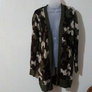 Long camouflage Cardigan